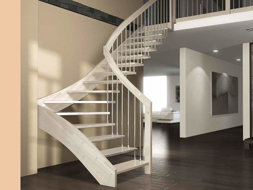 Beech cantilevered staircase FLY by MOBIROLO