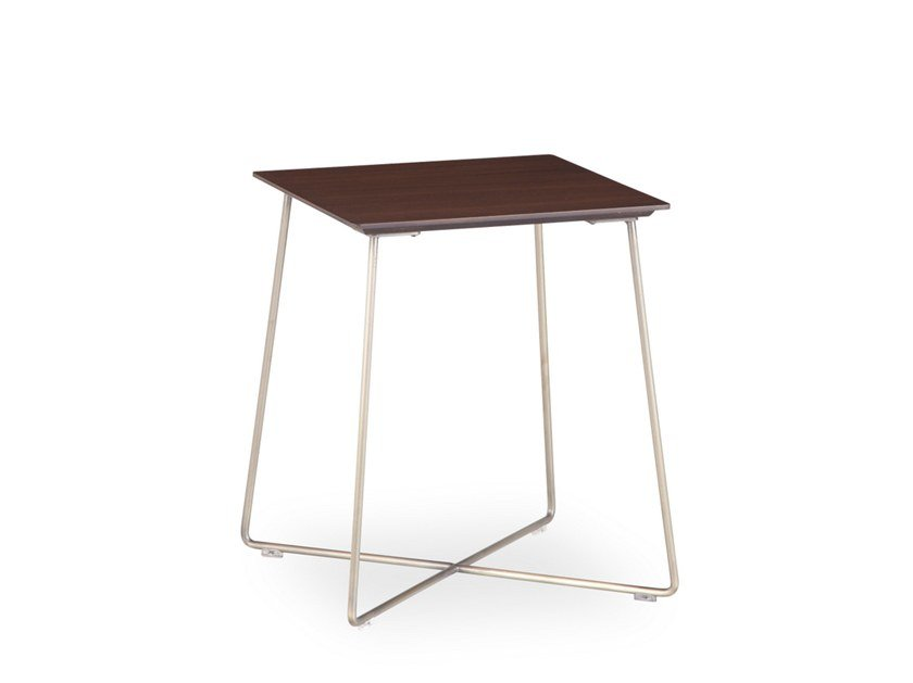 Square wood veneer side table FLY | Square coffee table by B&T Design