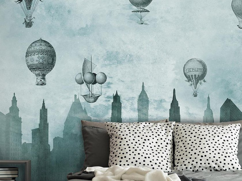Industrial and modern wallpaper, PVC free, eco, washable FLYING HIGH by Wallpepper