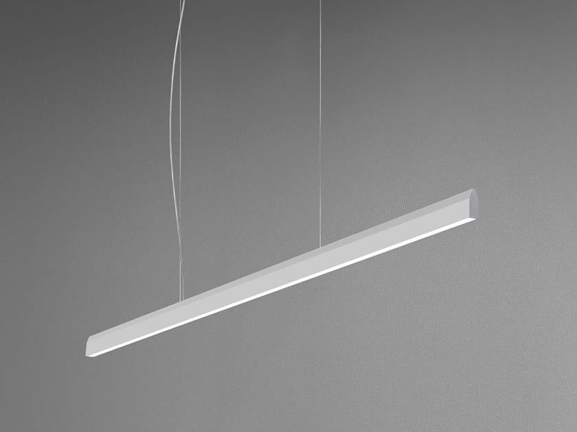 LED Anodized aluminium pendant lamp with dimmer FLYUP by Quadrifoglio