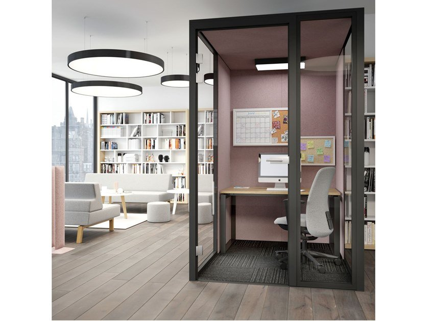 Acoustic multimedia office booth FOCUS ROOM by FURNIKO