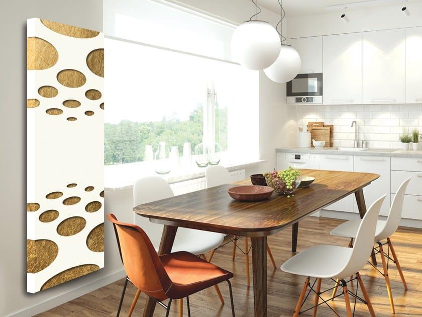 Electric wall-mounted aluminium panel radiator FOGLIA D'ORO - DP 00502 by Termoarredo Design