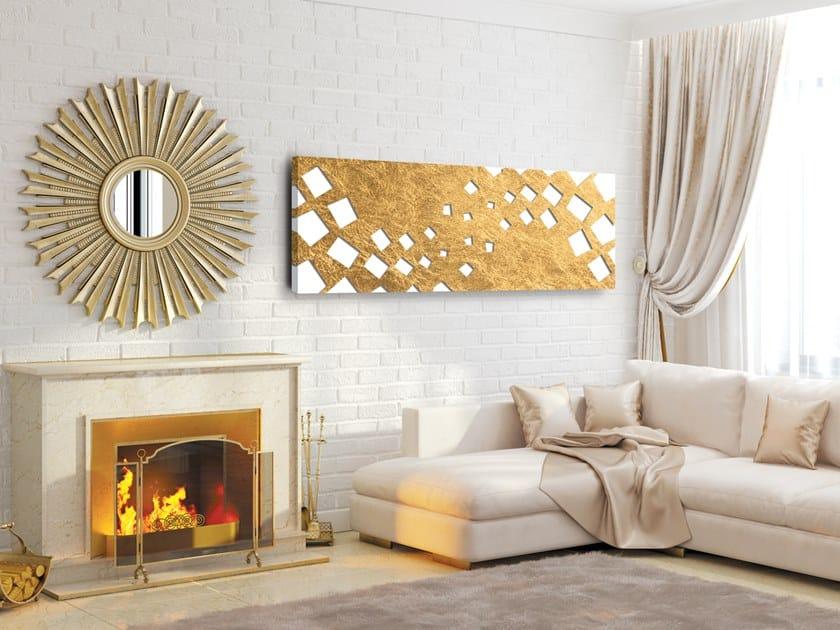 Pareti Doro : Termoarredo a pannello elettrico in alluminio a parete foglia doro
