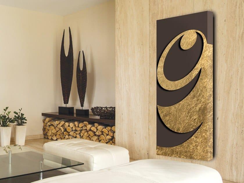 Electric wall-mounted aluminium panel radiator FOGLIA D'ORO - DP 00505 by Termoarredo Design