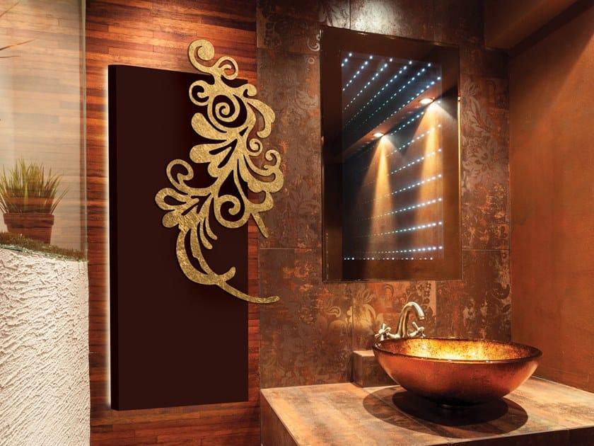 Parete Doro : Termoarredo a pannello elettrico in alluminio a parete foglia doro