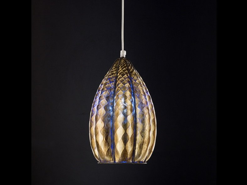 Murano glass pendant lamp FOGLIA ORO MS 158 by Siru