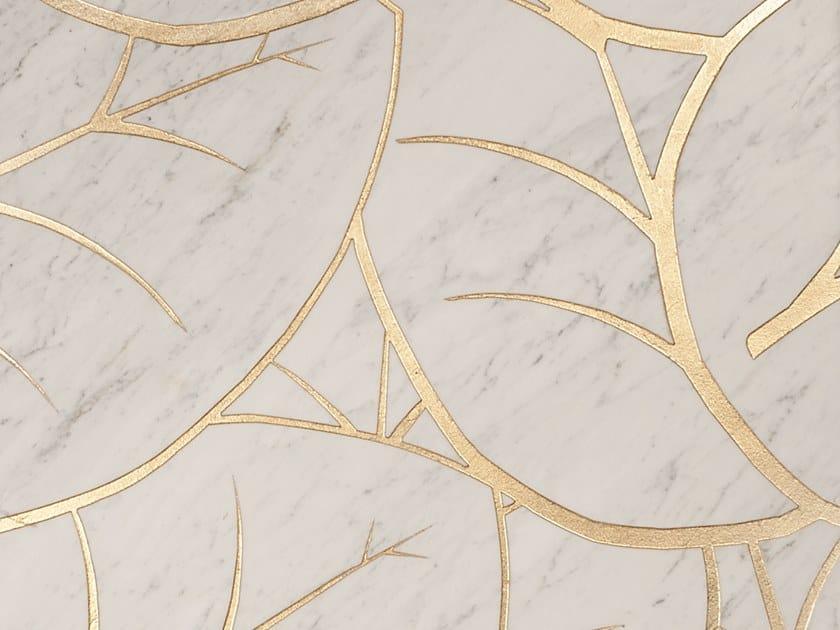 Carrara marble wall/floor tiles FOGLIE by Palazzo Morelli