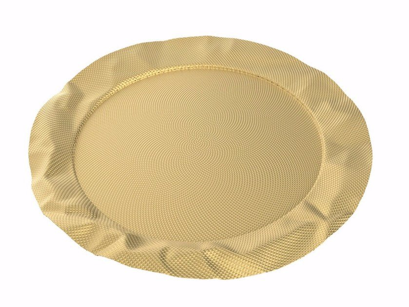 Round brass tray FOIX | Brass tray by Alessi