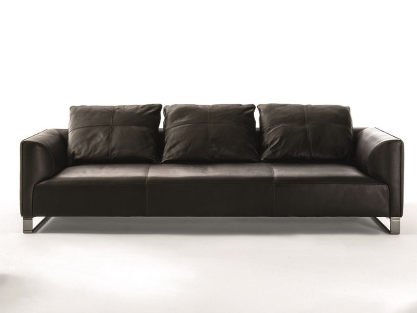 3 seater leather sofa FOLD | 3 seater sofa by Longhi