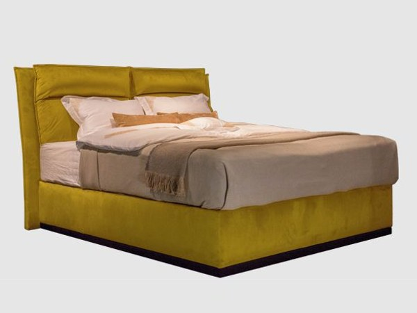 Upholstered fabric double bed FOLD by SCHRAMM
