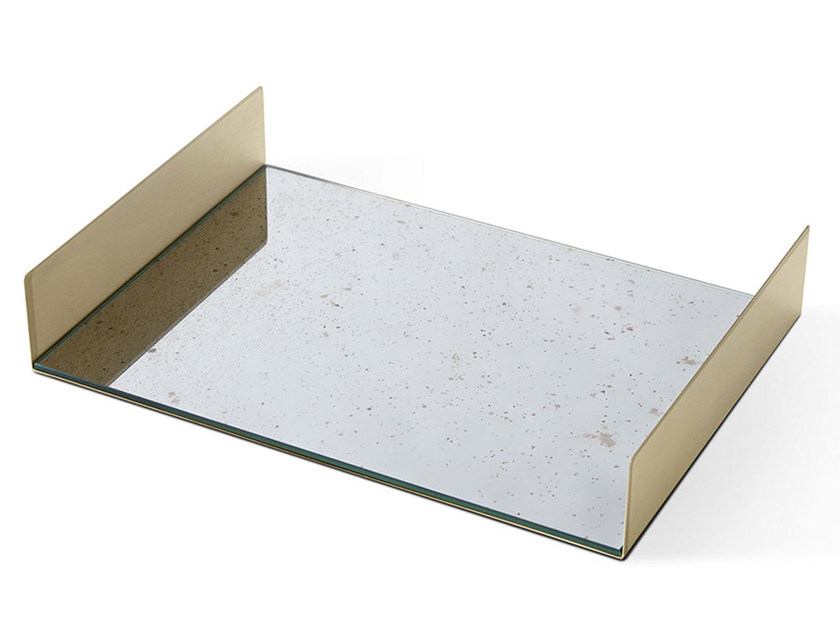 Rectangular crystal tray FOLDED TRAY by Gallotti&Radice