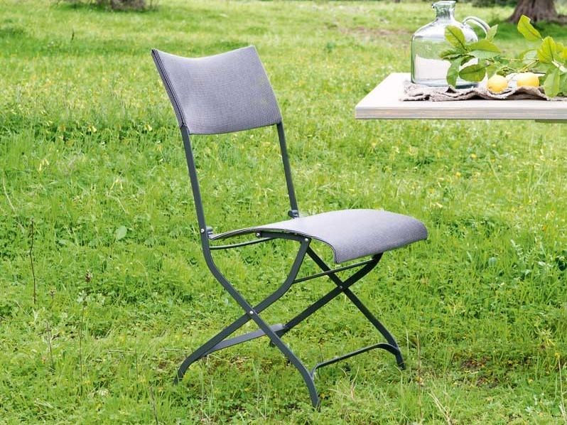 Folding iron garden chair MINERVA | Folding chair by Unopiù