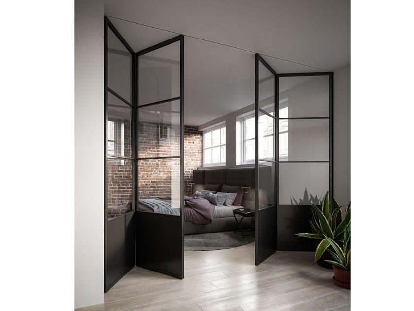 Folding glass door OFFICINA | Folding door by ADIELLE