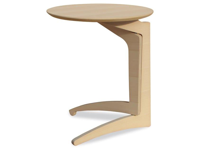 Tavolino Da Caffe Rotondo In Legno Foldme H63 Collezione Happy Design By Karn Design Michelantonio Rizzi