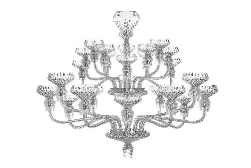 Crystal chandelier FOLIA 24 LIGHT by Saint-Louis