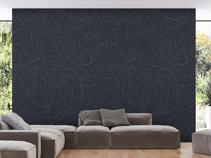 Washable wallpaper with floral pattern FOLIAGE by Baboon