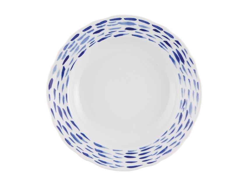 Porcelain deep plate FOLKIFUNKI - BLUE | Deep plate by Vista Alegre
