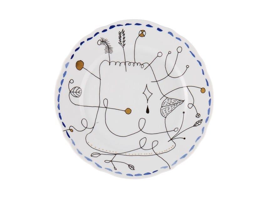 Porcelain dessert plate FOLKIFUNKI - BLUE   Dessert plate by Vista Alegre