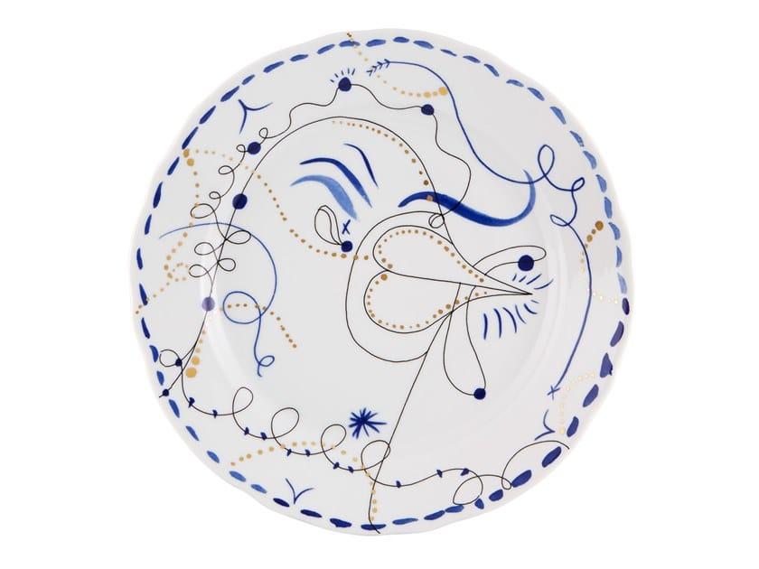 Porcelain dinner plate FOLKIFUNKI - CHICKEN | Porcelain plate by Vista Alegre