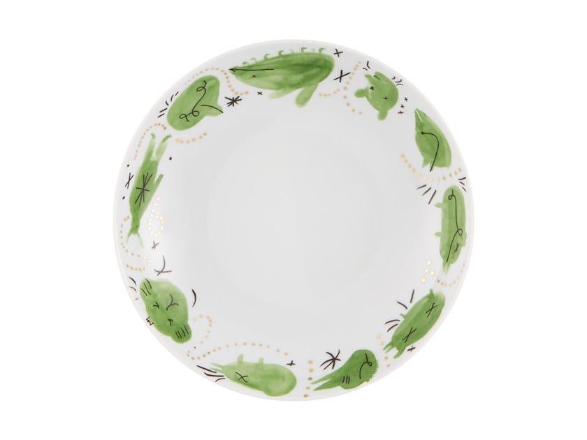 Porcelain deep plate FOLKIFUNKI - GREEN   Deep plate by Vista Alegre