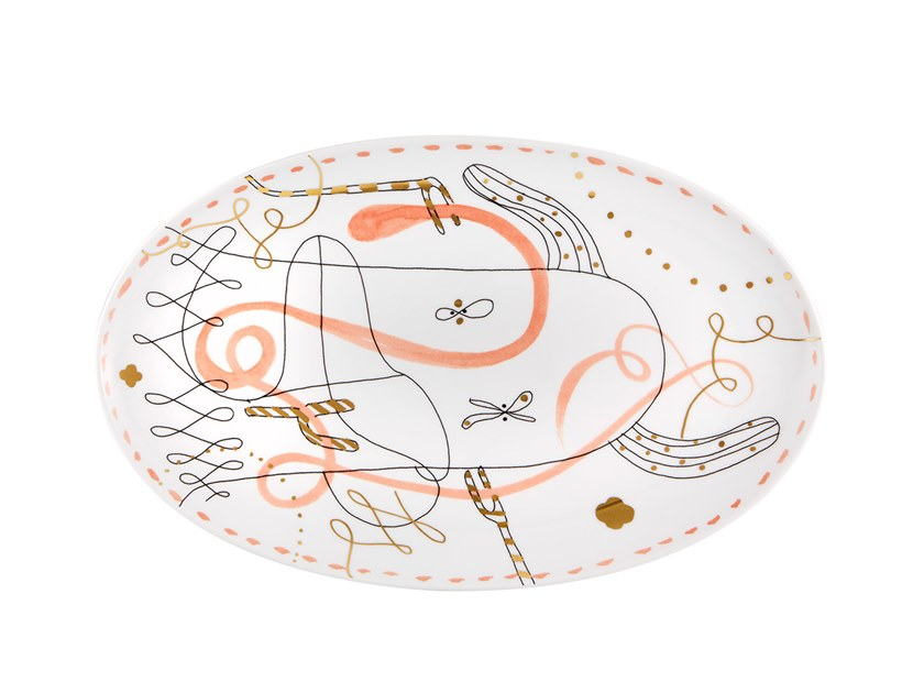Porcelain plate FOLKIFUNKI - ORANGE   Plate by Vista Alegre