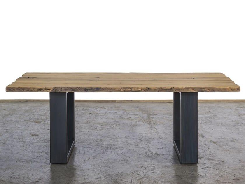 Rectangular reclaimed wood dining table FOLLINA by A&B Rosa dei Legni