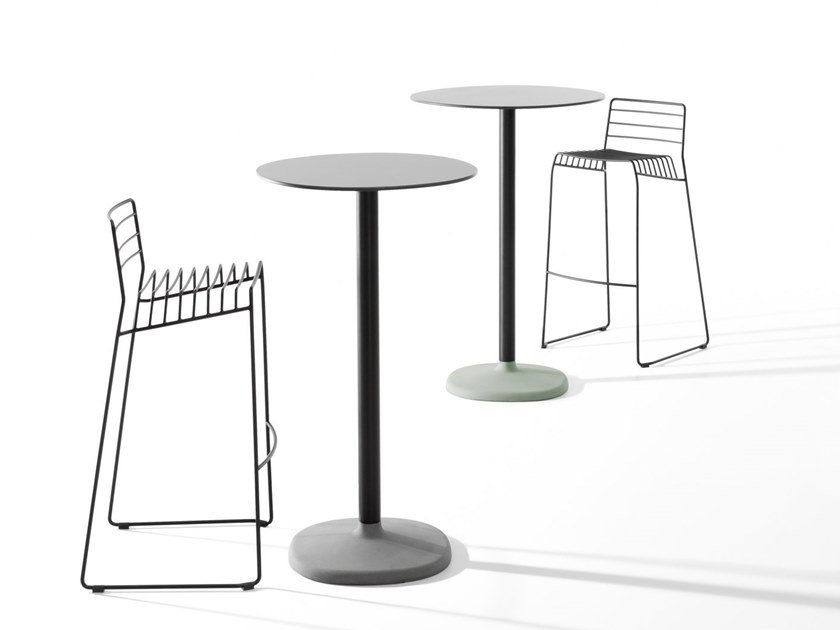 Round high table FONDA | High table by B-LINE