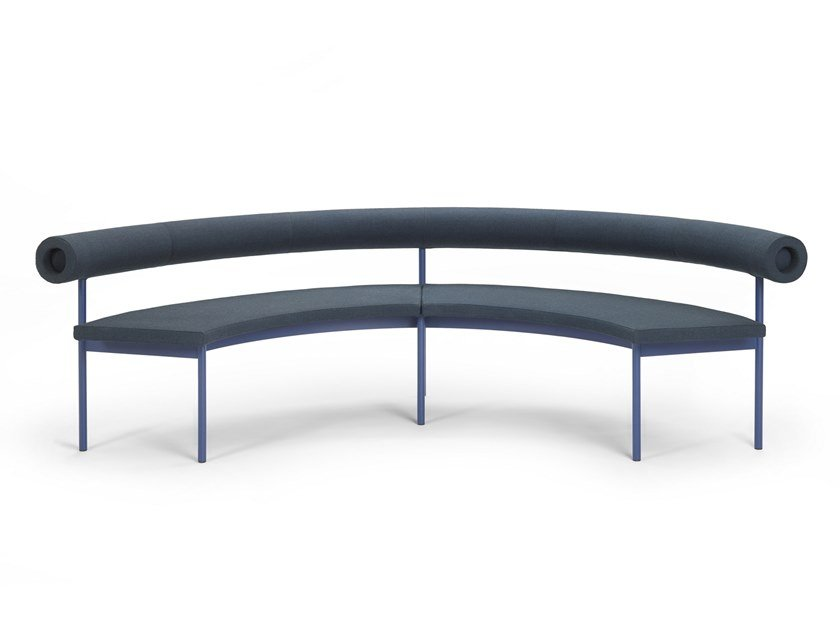 Curved fabric sofa FONT 1365 | Fabric sofa by Offecct