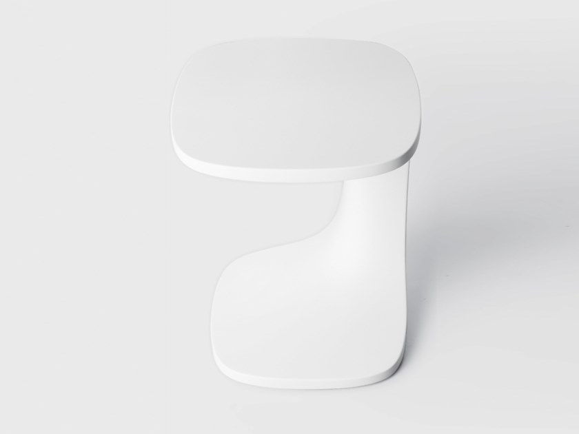 Square Cristalplant® coffee table FONT   Cristalplant® coffee table by Kristalia