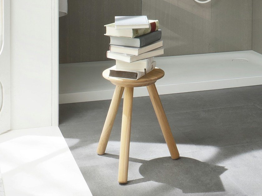 FONTE | Wooden bathroom stool Fonte Collection By Rexa Design design ...