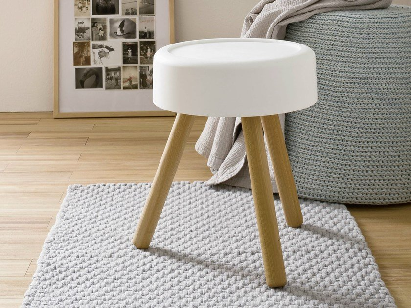 Wooden bathroom stool FONTE | Bathroom stool by Rexa Design