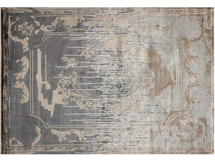 Handmade rectangular custom rug FONTENAY NEW AGE SHADOW by EDITION BOUGAINVILLE