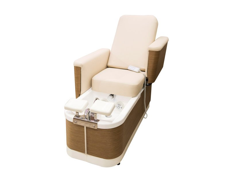 Massage wood veneer pedicure chair FOOT DREAM LUXURY by Nilo