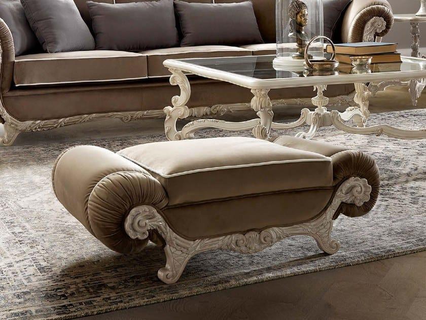 Upholstered rectangular fabric pouf TORNABUONI | Pouf by Andrea Fanfani