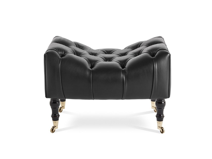 Leather footstool MIKY | Footstool by Gianfranco Ferré Home
