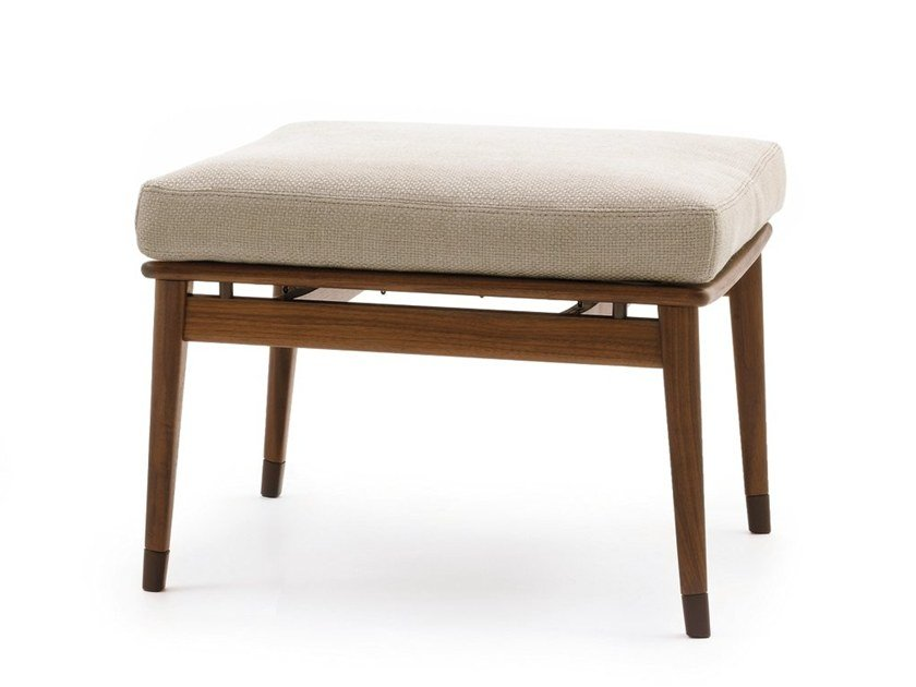 Wooden footstool DENNY | Footstool by GIORGETTI