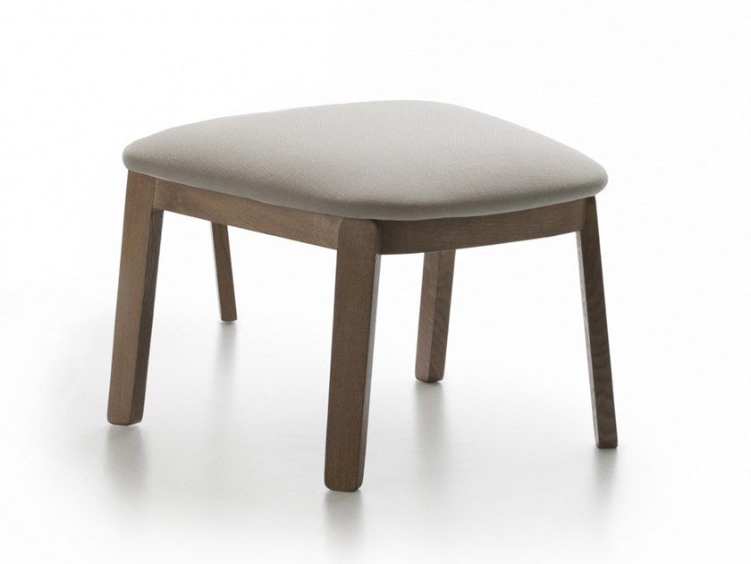 Oak footstool WOLFGANG | Footstool by Huppé