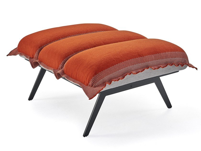 Fabric footstool NEXT STOP | Footstool by Sancal
