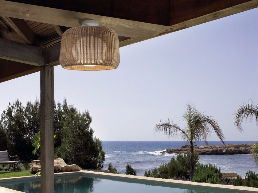 Polyethylene outdoor ceiling light FORA PF/50 OUTDOOR by BOVER
