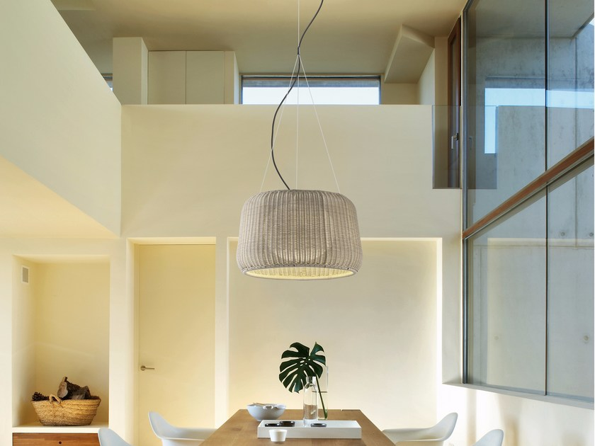 Polyethylene pendant lamp FORA S/50 OUTDOOR by BOVER