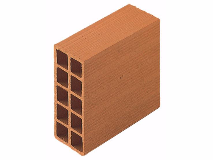 Clay building block / External masonry clay block Perforated brick 10x25x25 by Wienerberger