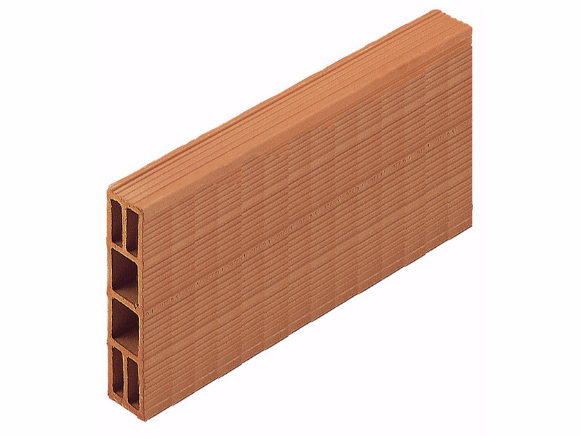 Clay building block / External masonry clay block Perforated brick 6x25x50 by Wienerberger