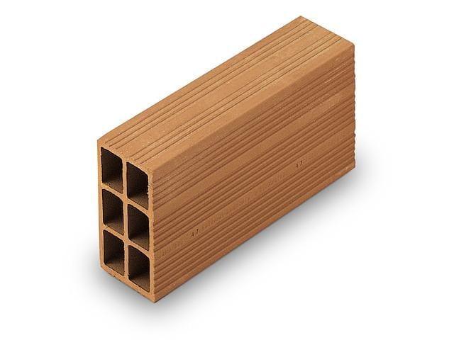 Clay building block / External masonry clay block Perforated brick 8x15x30 by Wienerberger
