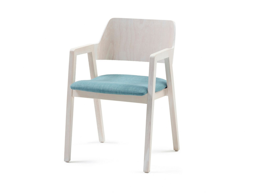 Upholstered fabric chair with armrests FORD 03 + A by Z-Editions