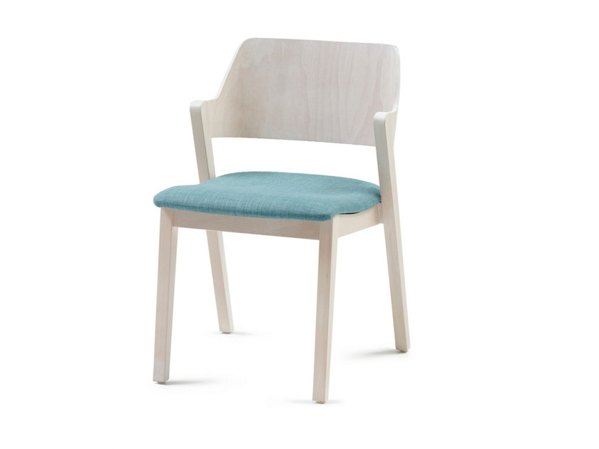 Upholstered stackable fabric chair FORD 03 ST by Z-Editions