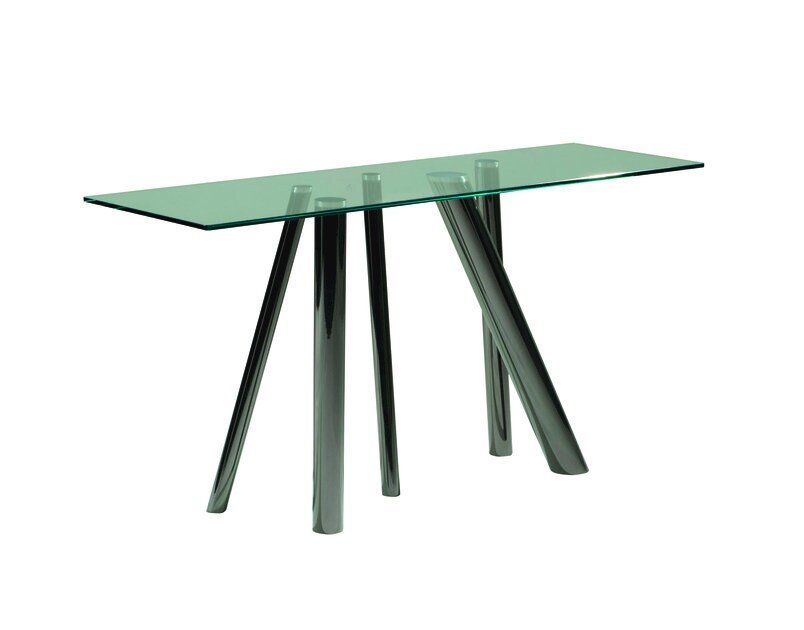 Rectangular tempered glass console table FOREST   Console table by ROCHE BOBOIS