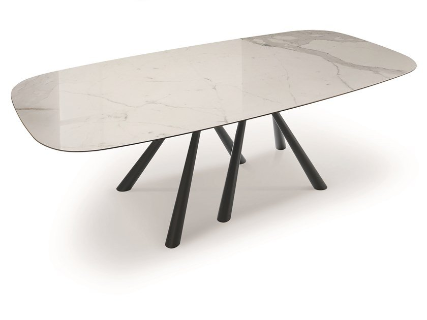 Rectangular glass ceramic table FOREST | Glass ceramic table by Midj