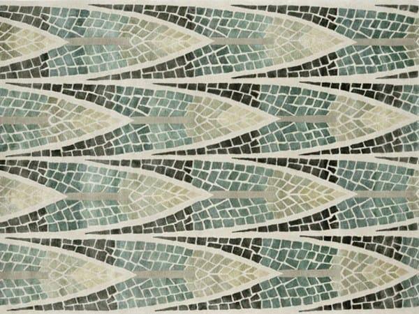 Handmade rectangular rug FOREST MOSAIC by Deirdre Dyson