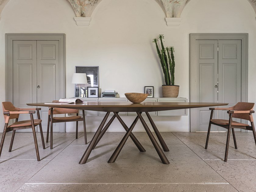 Oval wood veneer table FOREST | Oval table by Midj
