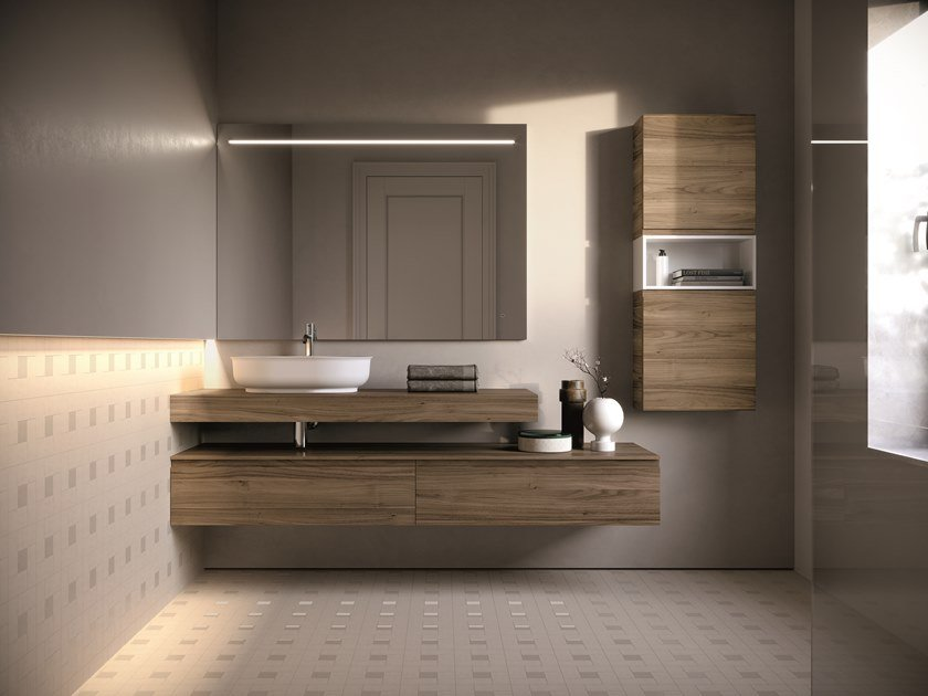 Wall-mounted vanity unit FORM 07 by Idea